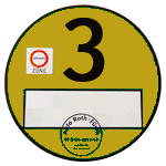 Yellow badge